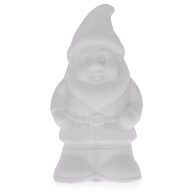 Blank Unpainted Ceramic Gnome Christmas Coin Piggy Bank 5 Inches by BestPysanky