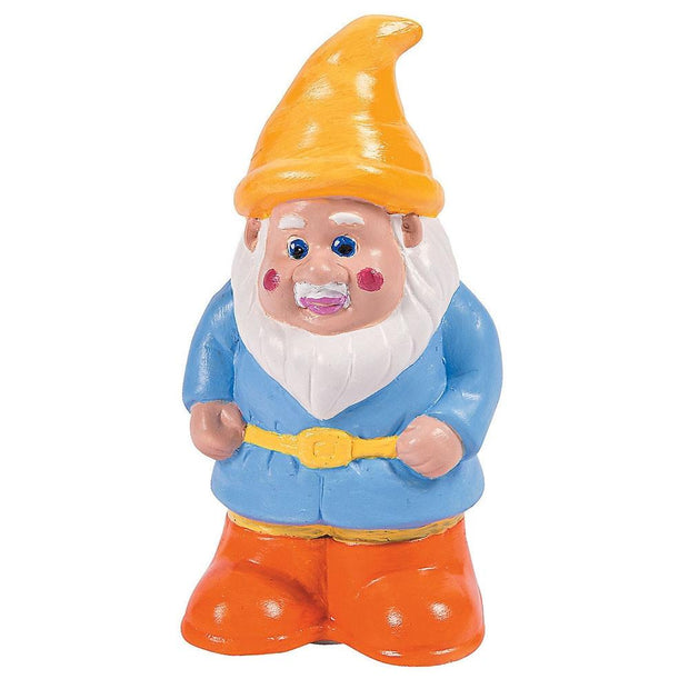 Blank Unpainted Ceramic Gnome Christmas Coin Piggy Bank 5 Inches