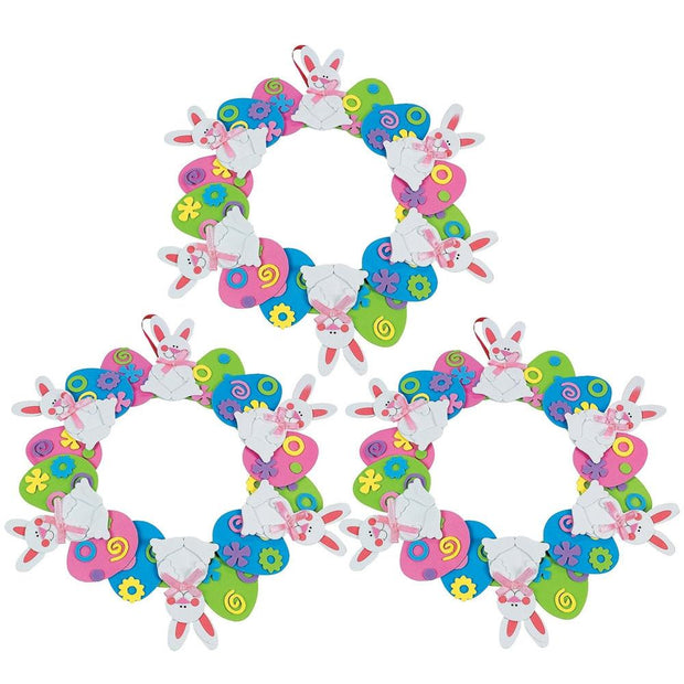 DIY Kit Set of 3 Easter Egg Wreaths by BestPysanky