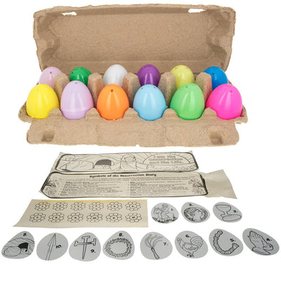 Resurrection Story 12 Plastic Easter Eggs Craft Kit DIY by BestPysanky