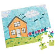 Set of 6 White Blank Create a Jigsaw Puzzles 10 Inches x 8 Inches