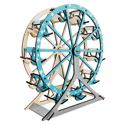 Ferris Wheel Model Kit - Wooden Laser-Cut 3D Puzzle (62 Pcs) by BestPysanky