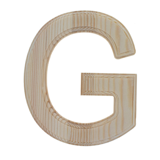 Unfinished Wooden Arial Font Letter G 6.25 Inches by BestPysanky