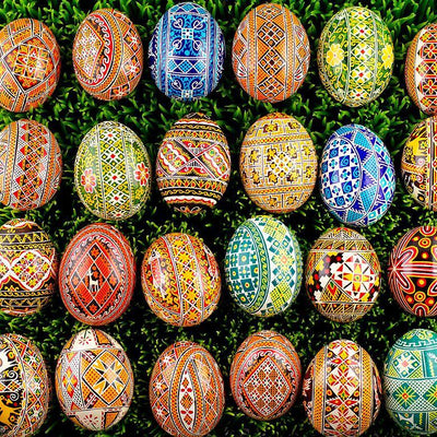 Set of 5 Real Ukrainian Easter Eggs in Assortment by BestPysanky
