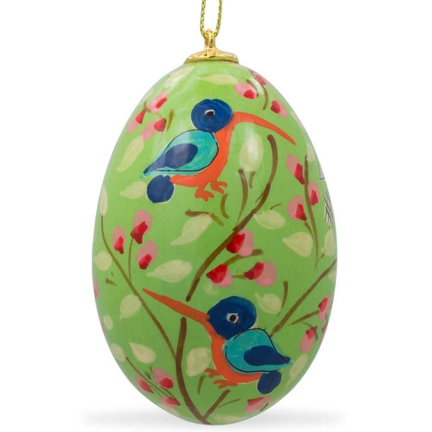Buy Online Gift Shop Set of 6 Flowers and Birds Ukrainian Wooden Easter Egg Ornaments