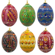 "BestPysanky Easter Eggs > Easter Ornaments - 2.5"" Set of 6 Pysanky Ukrainian Easter Egg Wooden Easter Ornaments"
