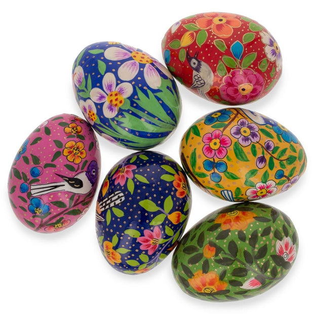 Buy Online Gift Shop Set of 6 Birds Ukrainian Wooden Easter Eggs Pysanky 3 Inches
