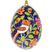 6 Birds Ukrainian Wooden Easter Egg Pysanky Ornaments