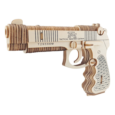 Beretta M92F Gun Model Kit - Wooden Laser-Cut 3D Puzzle (106 Pcs) by BestPysanky