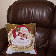 Set of 2 Santa Christmas Throw Cushion Pillow Covers 18 Inches