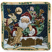 Buy Online Gift Shop Set of 2 Santa Reading Gifts List Christmas Throw Cushion Pillow Covers