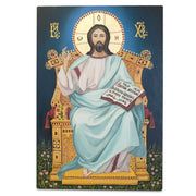 Hand Painted on Wooden Plaque Jesus Christ Orthodox Icon 12 Inches by BestPysanky