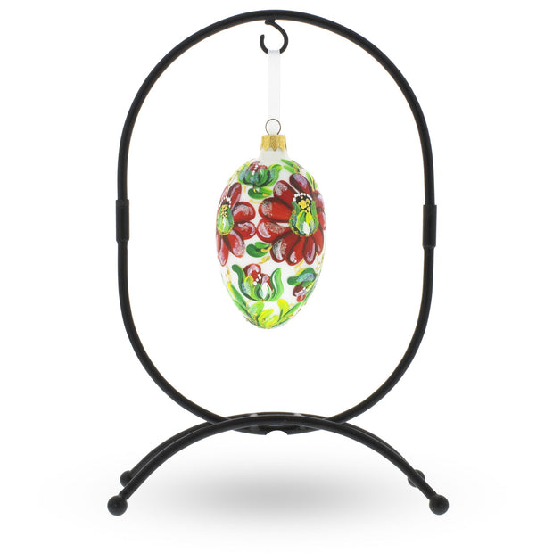 Oval Metal Ornament Stand 11.7 Inches