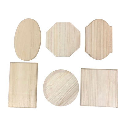 Set of 6 Assorted Sizes Unfinished Wooden Plaques DIY Crafts Blanks by BestPysanky