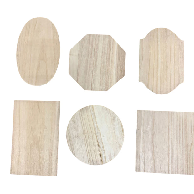 Buy Online Gift Shop Set of 6 Assorted Sizes Unfinished Wooden Plaques DIY Crafts Blanks