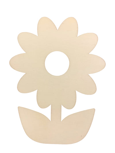 Unfinished Wooden Flower Shape Cutout DIY Craft 5 Inches by BestPysanky