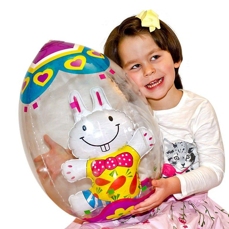 Inflatable Easter Egg with Bunny 19 Inches by BestPysanky