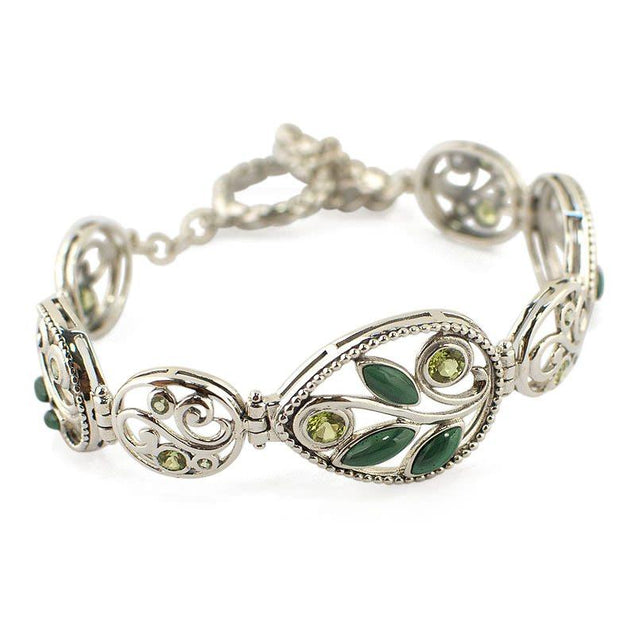 Malachite and Period Sterling Silver Bracelet