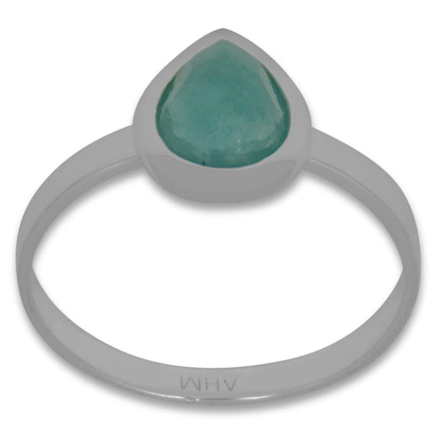 Faceted Amazonite Sterling Silver Ring (Size 7) by BestPysanky