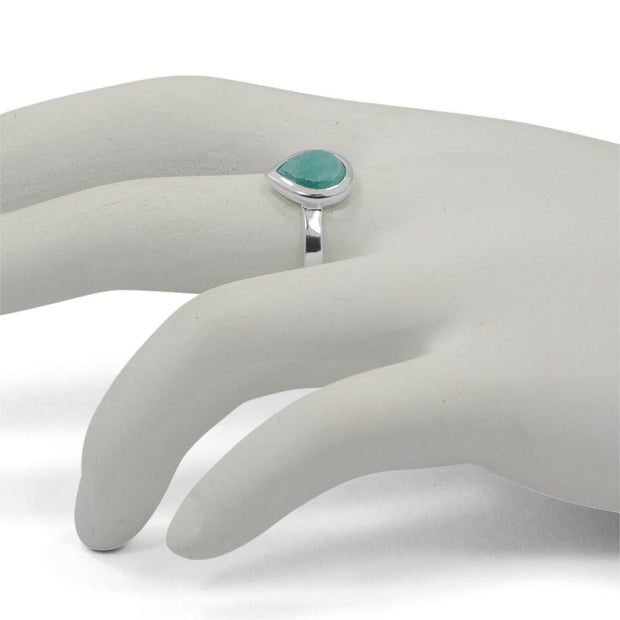 Faceted Amazonite Sterling Silver Ring (Size 7) | BestPysanky