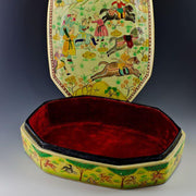 "9.5'' X 7"" Indian Mughal Dynasty Oriental Wooden Jewelry Box 