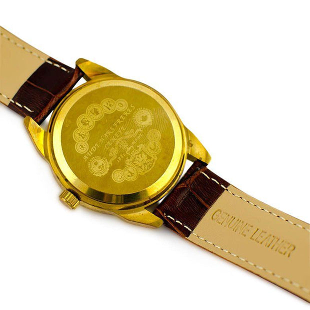 Zhuang Classic Golden Plated Brass Case Men's Mechanical Automatic  Watch