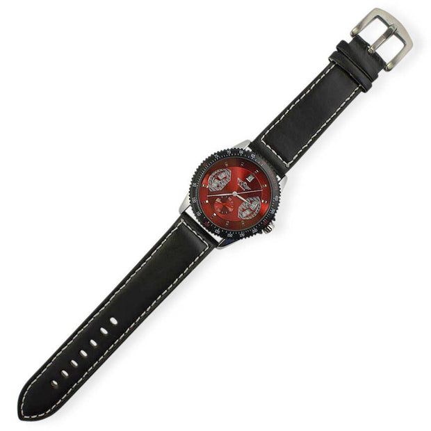 Winner Red Dial Men's Tachymeter
