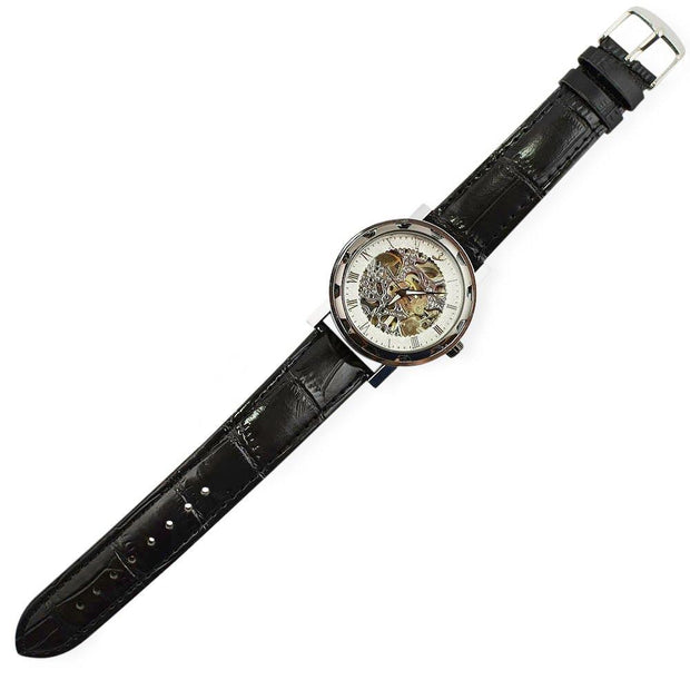 BestPysanky Watches > Men's Watches - Silver White Dial Skeleton Men's Automatic Watch