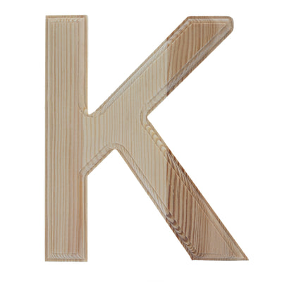 Unfinished Wooden Arial Font Letter K (6.25 Inches) by BestPysanky