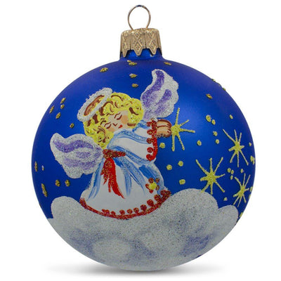 Angel in the Sky Glass Ball Christmas Ornament 3.25 Inches by BestPysanky
