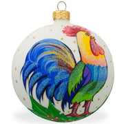 Colorful Rooster Glass Ball Christmas Ornament 3.25 Inches by BestPysanky