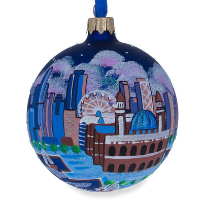 Navy Pier, Chicago, Illinois Glass Ball Christmas Ornament by BestPysanky