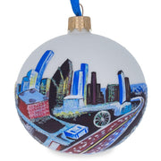 Houston, Texas Glass Ball Christmas Ornament 3.25 Inches by BestPysanky