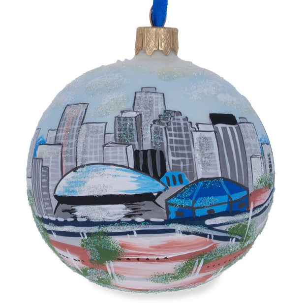 New Orleans, Louisiana Glass Ball Christmas Ornament 3.25 Inches by BestPysanky