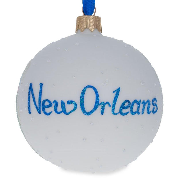 New Orleans, Louisiana Glass Ball Christmas Ornament 3.25 Inches