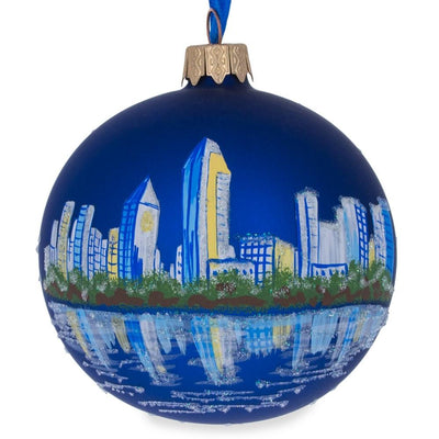 San Diego, California Glass Ball Christmas Ornament 3.25 Inches by BestPysanky