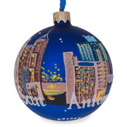 San Antonio, California Glass Ball Christmas Ornament 3.25 Inches by BestPysanky