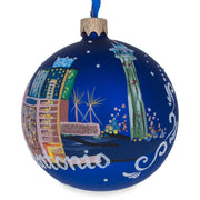 San Antonio, California Glass Ball Christmas Ornament 3.25 Inches