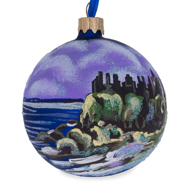 Castle in Ireland Glass Ball Christmas Ornament 3.25 Inches by BestPysanky