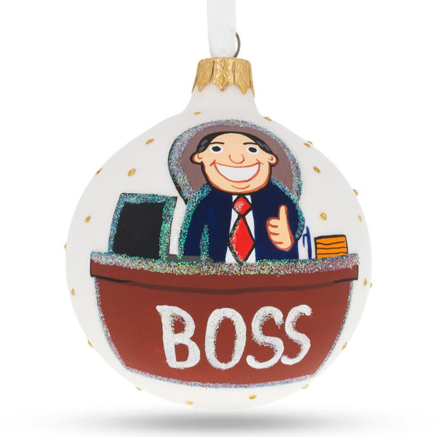 Boss Glass Ball Christmas Ornament 3.25 Inches by BestPysanky