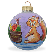 Squirrel with Gifts by Tree Glass Ball Christmas Ornament 3.25 Inches by BestPysanky