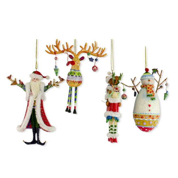 Santa, Snowman, Reindeer, Teddy Bear Resin Christmas Ornaments 5 Inch - 3 Inch by BestPysanky