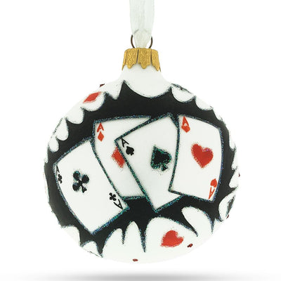 Playing Cards Deck Glass Christmas Ornament by BestPysanky
