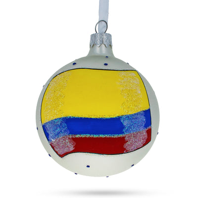 Flag of Colombia Glass Ball Christmas Ornament by BestPysanky