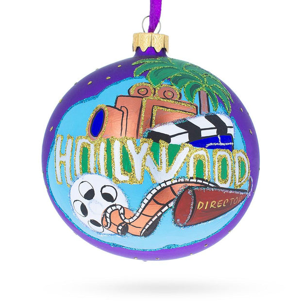 Hollywood, California Glass Ball Christmas Ornament 4 Inches by BestPysanky