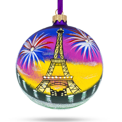 Eiffel Tower, Paris, France Glass Christmas Ornament 4 Inches by BestPysanky