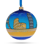 European Travel Attractions Glass Christmas Ornament 4 Inches