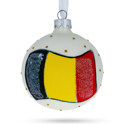 Flag of Belgium Glass Ball Christmas Ornament by BestPysanky