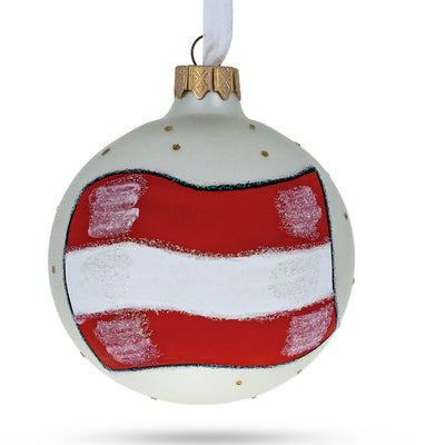 Flag of Austria Glass Ball Christmas Ornament by BestPysanky