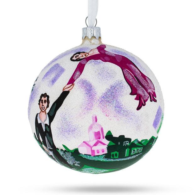 "1917 ""The Promenade"" Painting by Marc Chagall Glass Ball Christmas Ornament 4 Inches by BestPysanky"